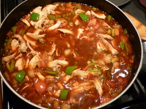 Bring to a simmer and cook, covered, for about 45 minutes.