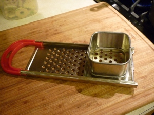 Alert: This recipe requires special equipment. There is a device called a spaetzle maker, which makes this recipe quite simple. Alternatively you could use a flat cheese grater, although it takes more time. I've used a spoon a few times and it's quite tedious.