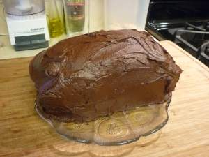 Here it is finished. The rich, rich chocolate flavor is decadent.