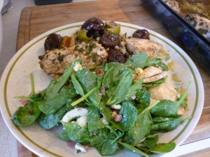 Spinach Salad w-Anchovy Dressing