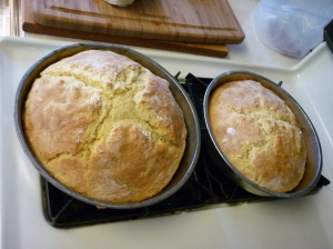 Bake at 375 degrees for 35-40 minutes or until nicely browned. Served warm, it's awesome!