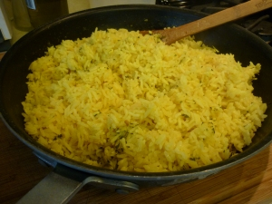 The rice has finished cooking.