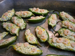 Bake at 400 degrees for 18-22 minutes or until jalapeños are tender. Yield 18 appetizers.