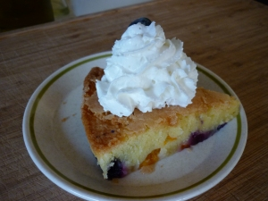 Voila, done! Add a dab of whipped cream and garnish with a blueberry.