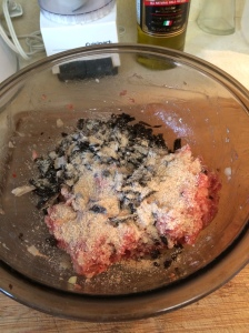 I tried not to use much bread crumbs and it would probably work without any at all.