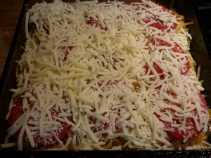 Layer of cheese.